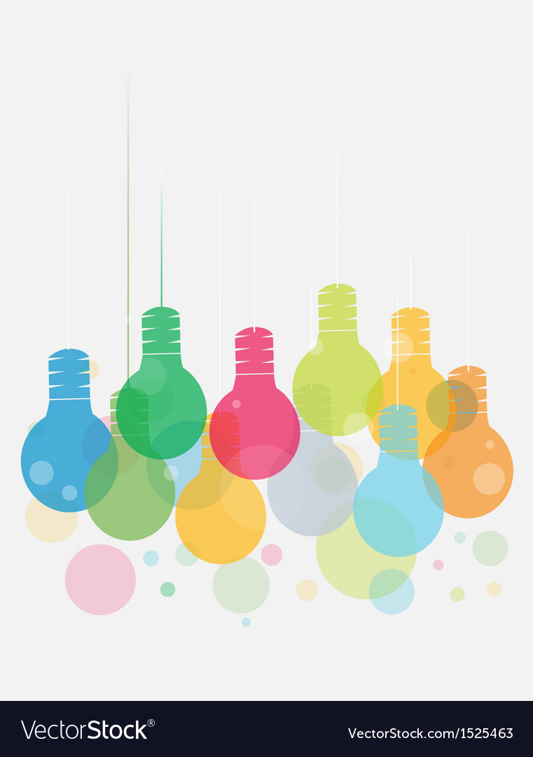 Idea concept with colorful of hanging vector