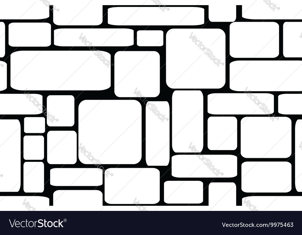 Stone bricks seamless vector