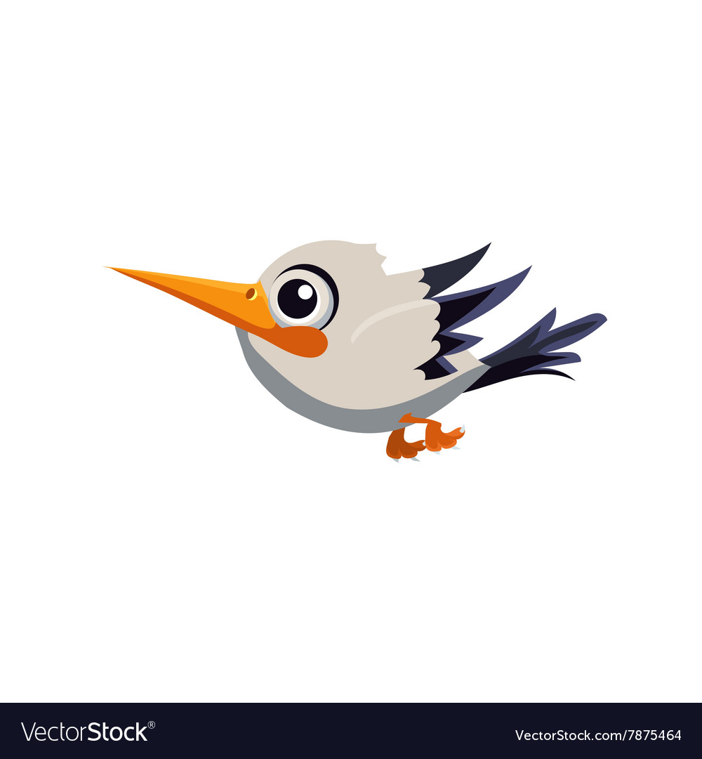 Cute white stork vector