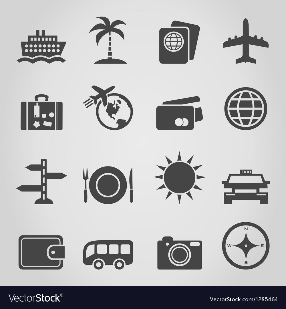 Travel an icon vector