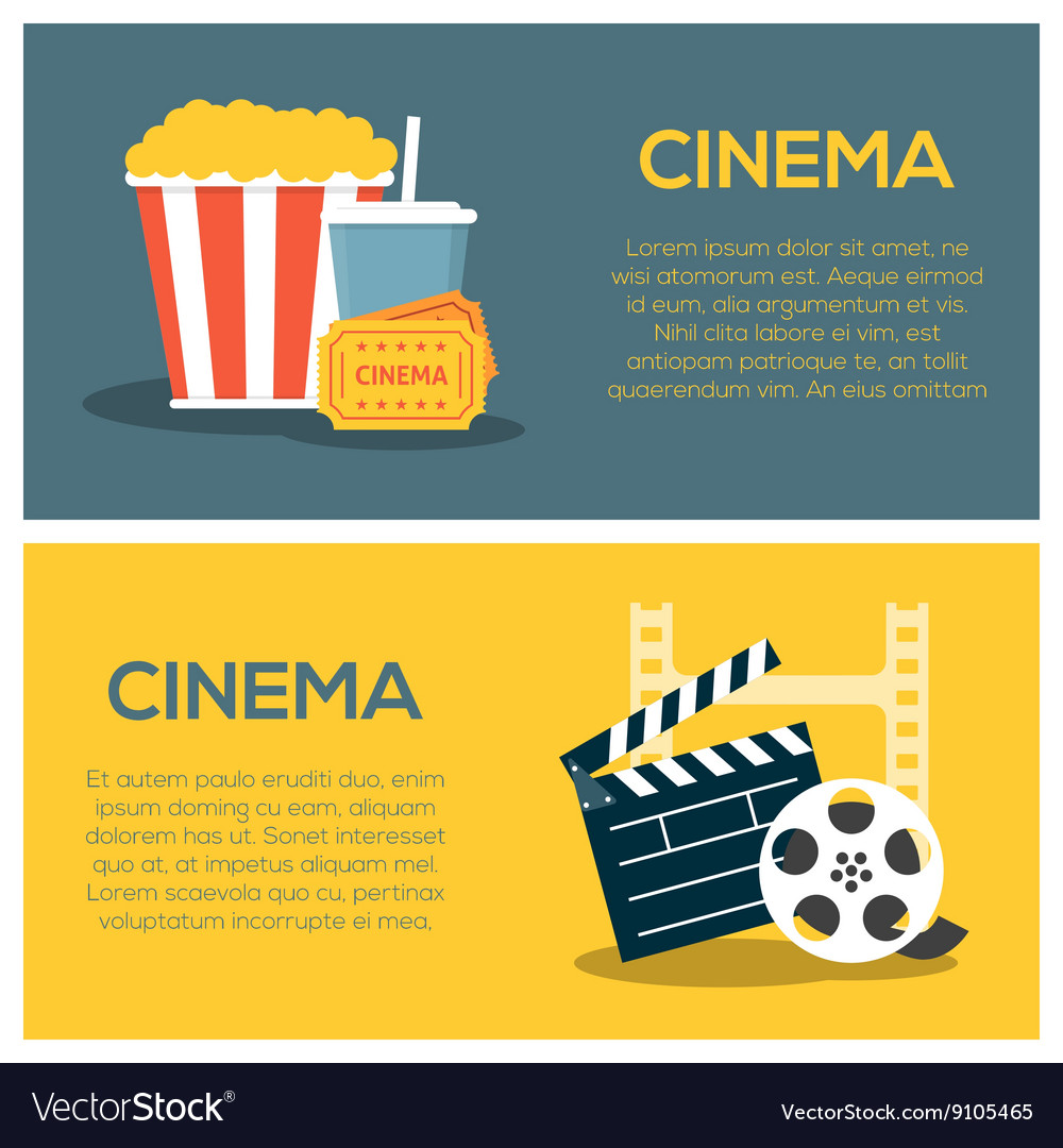 Cinema concept poster template vector