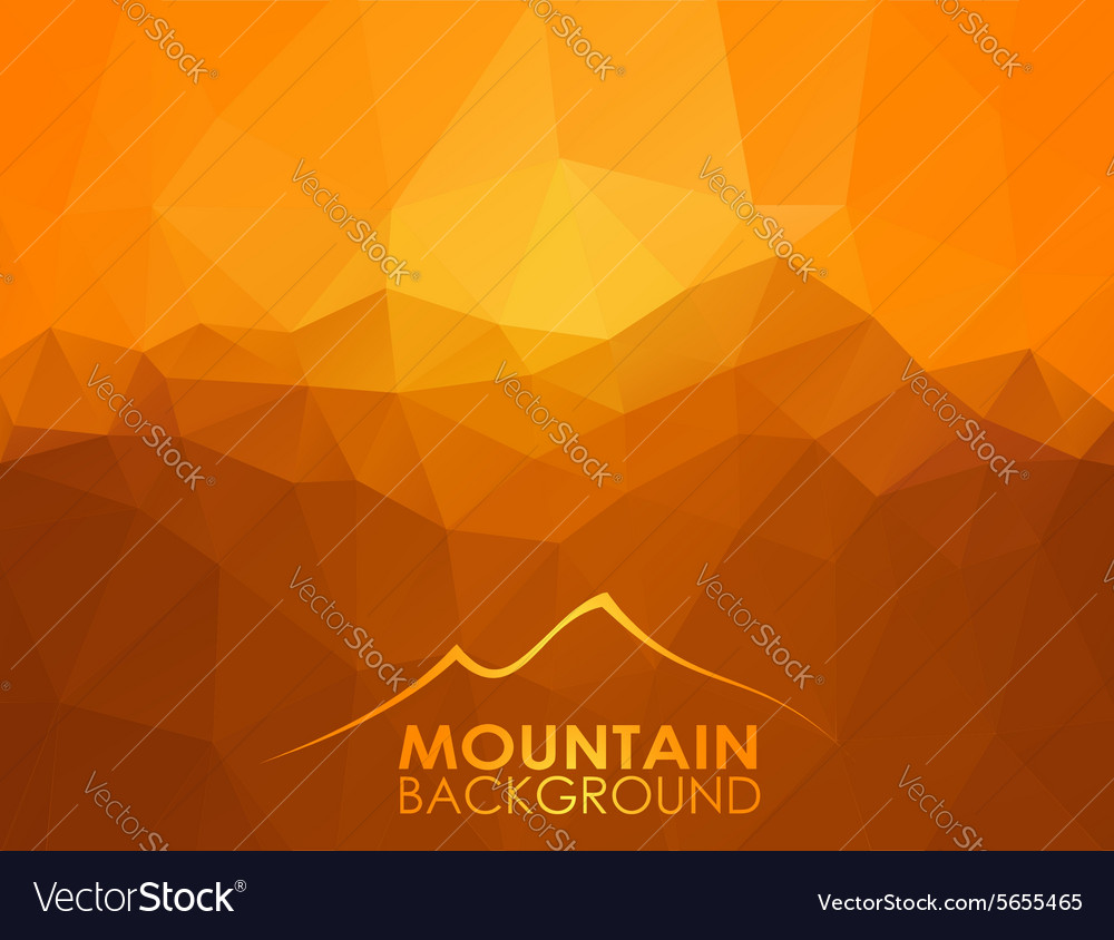 Triangle geometrical background with mountains vector