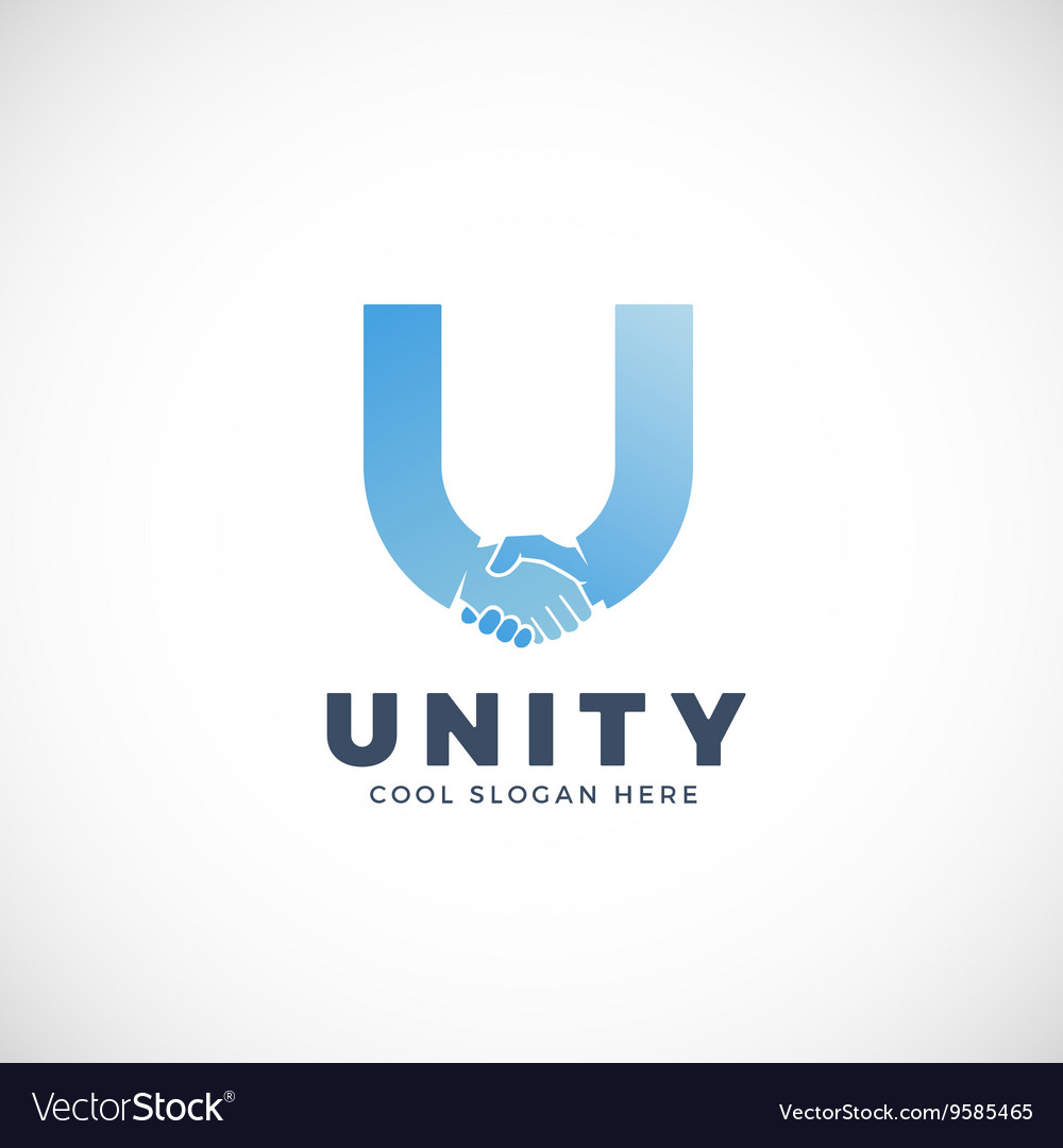 Unity abstract sign symbol or logo vector