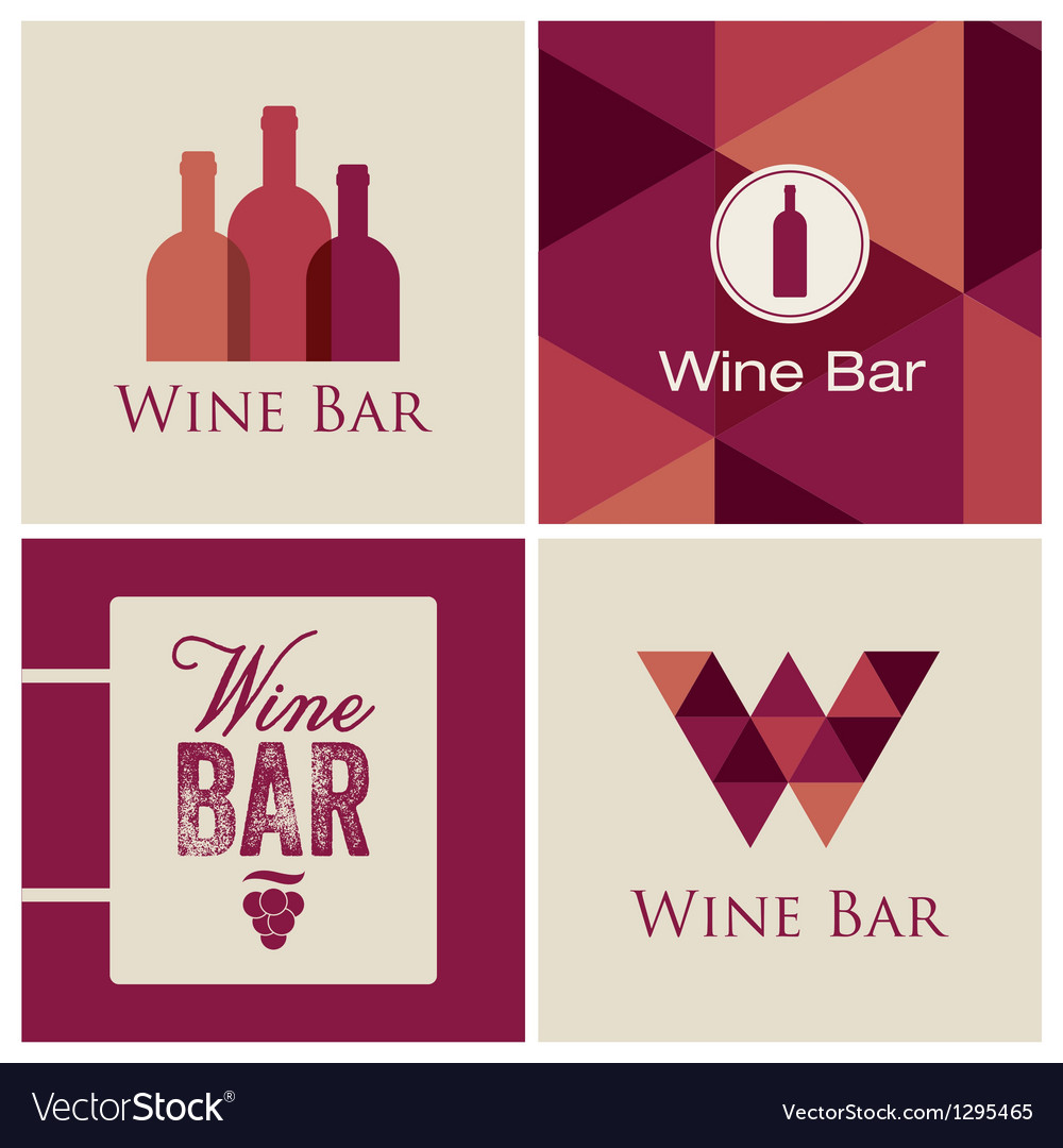 Wine bar logo vector