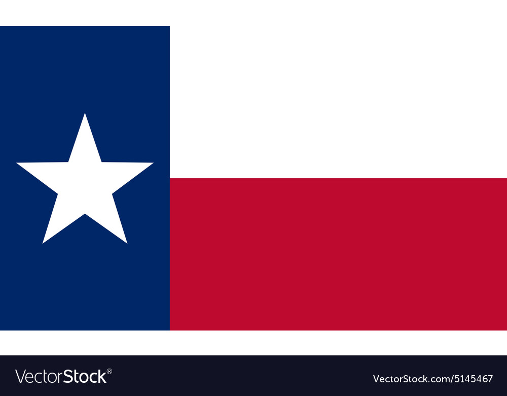 Flag of the us state of texas vector