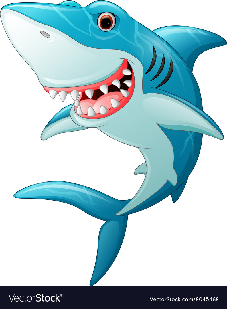 Cartoon funny shark vector