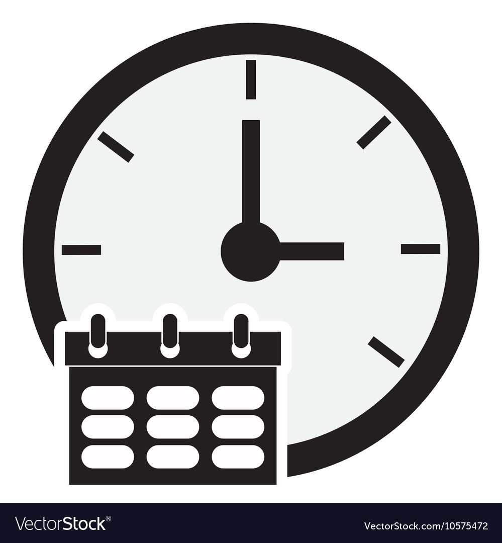 Clock time icon design vector
