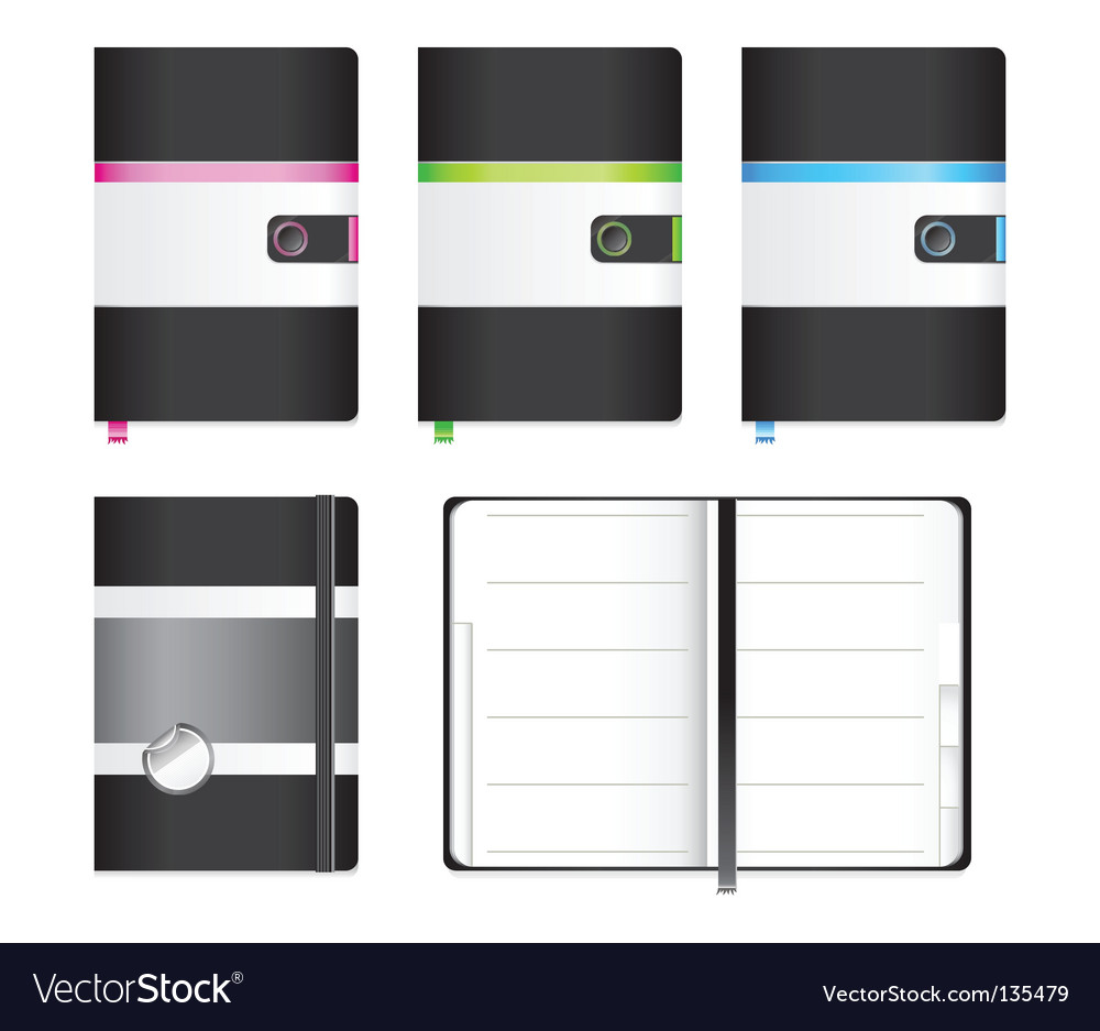 Moleskin notebook vector