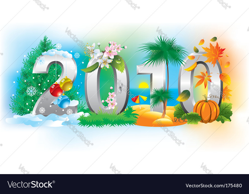 To new year 2010 vector