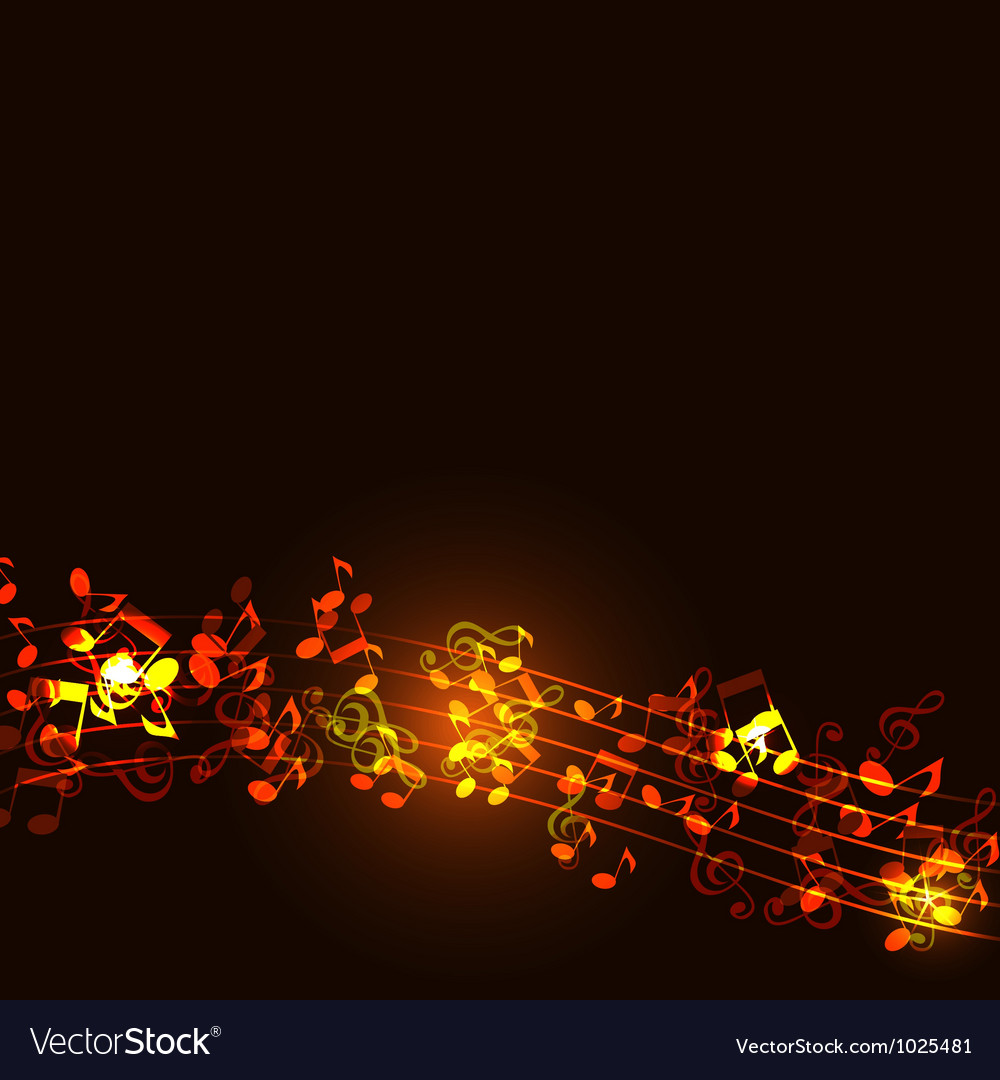 Notes abstract gold music background vector