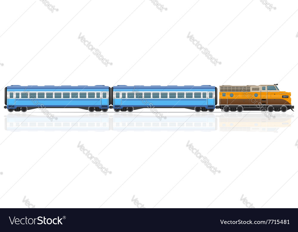 Railway train 01 vector