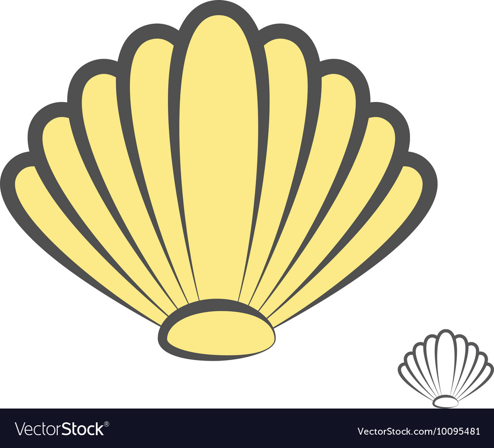 Sea shell logo or icon vector