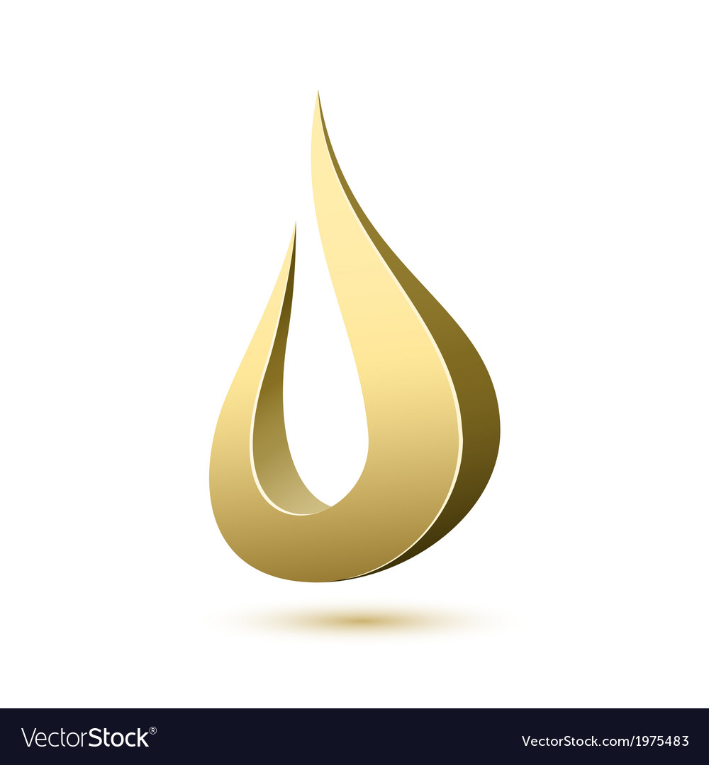 Abstract drop icon template vector