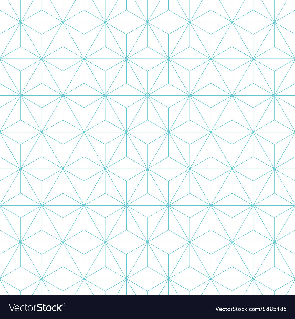 Japanese asanoha pattern background vector