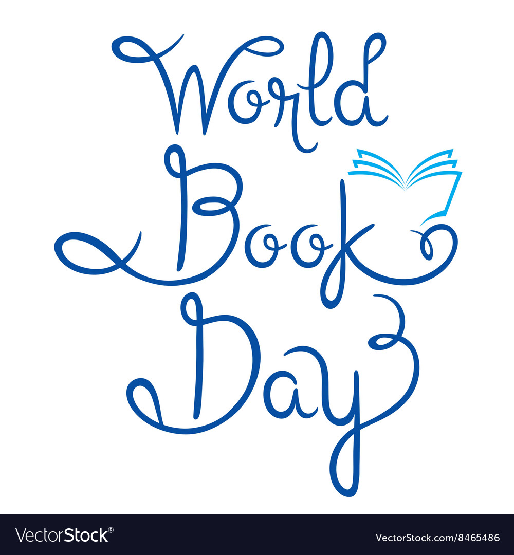 World book day lettering vector