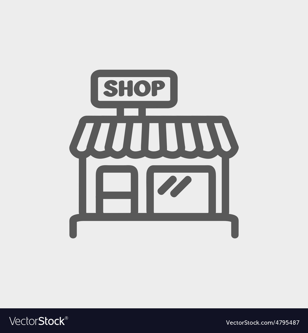 Business shop thin line icon vector