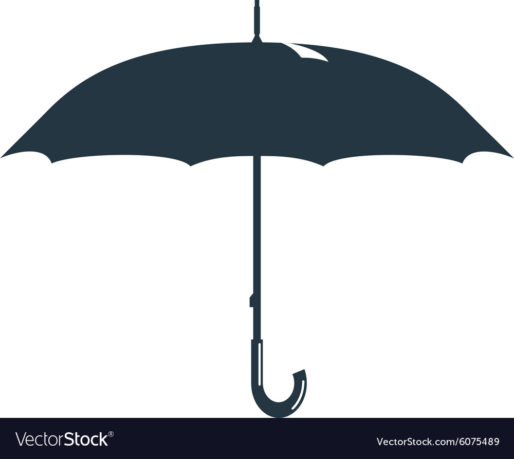 Umbrella rain drops water vector