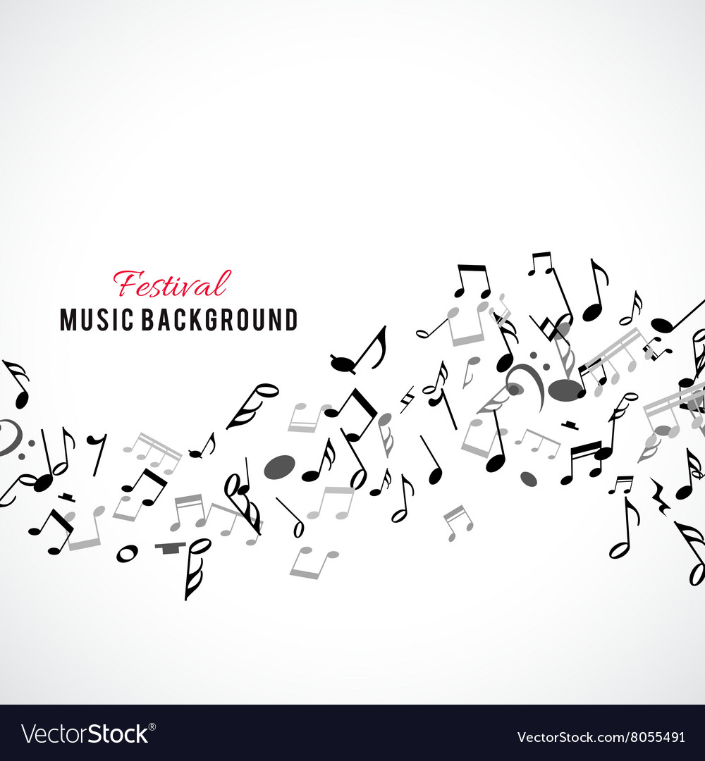 Abstract musical frame and border with black notes vector