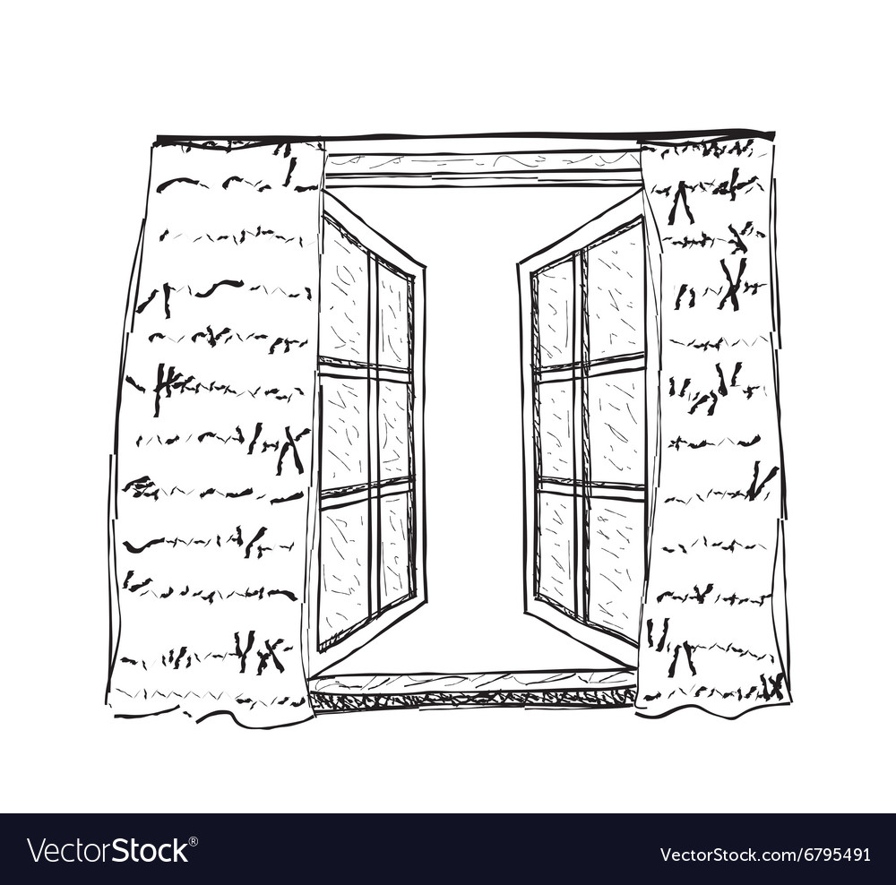 Opened window vector