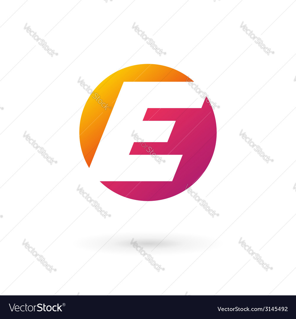 Letter e logo icon vector