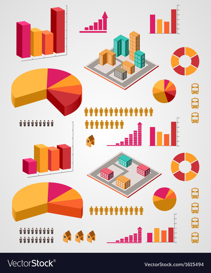 Set of infographics elements vector