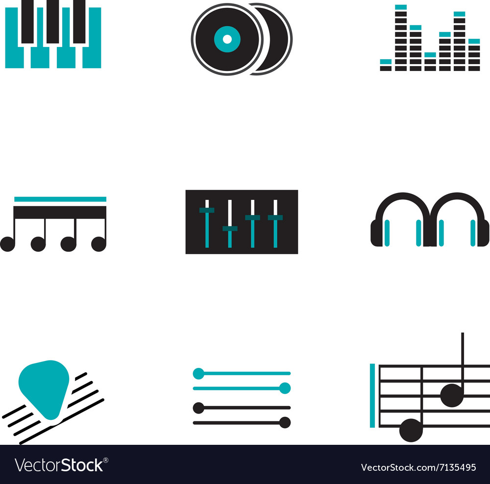 Music logos set vector