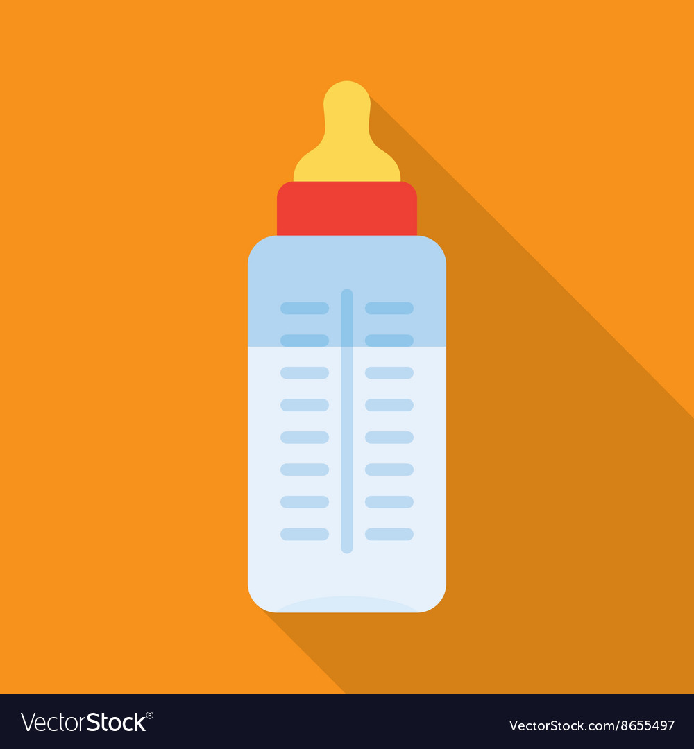 Baby milk bottle vector