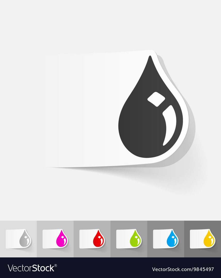 Realistic design element drop of oil vector