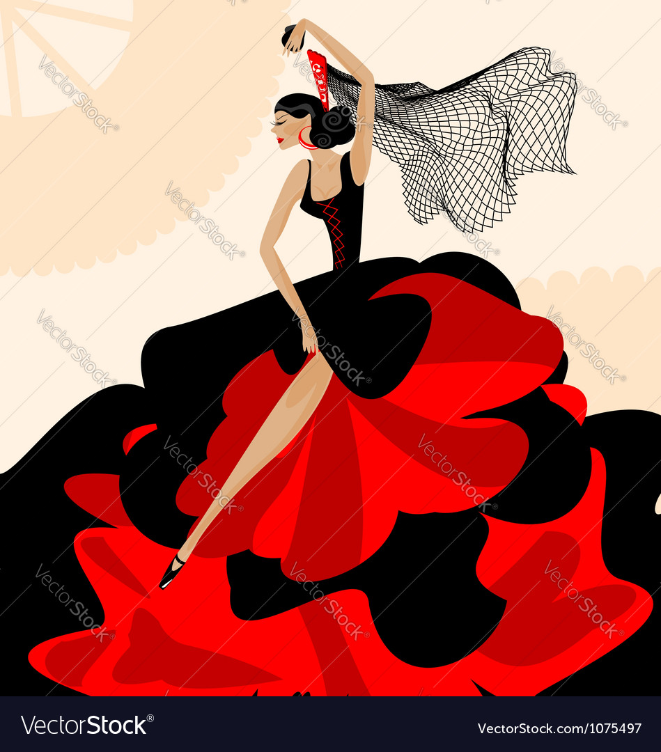 Woman flamenco vector