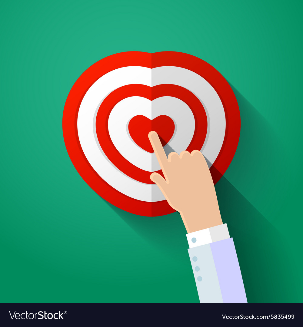 Icon of human heart with hand vector