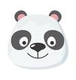 Panda Face in Flat Design vector image