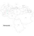 Contour Venezuela map vector image