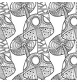 mushrooms black and white seamless vector image