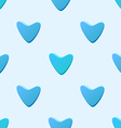 Cute blue seamless pattern tiling made of hearts vector image
