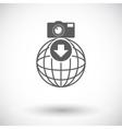 Photo download single icon vector image