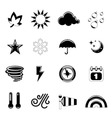 weather icon set vector image vector image