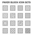 Paver block vector image