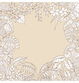 tropic outline frame vector image vector image
