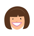 Smiling girl face vector image