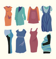 ashion clothing for stylish pregnant woman vector image