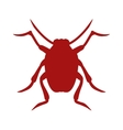 Bug icon beetle isolated on white background vector image