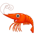 Cartoon cute lobster vector image