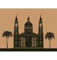 City buildings graphic template St Istvan vector image