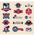 Cross fit Fitness and Sport Labels vector image