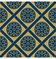 geometric floral seamless pattern vector image