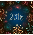 New year eve fireworks 2016 vector image