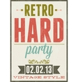 Retro party vintage typography poster vector image