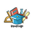 school knowledge utensils to education learn vector image