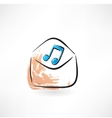 music in the envelope vector image vector image