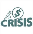 Economic crisis vector image
